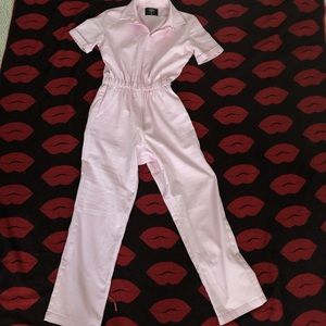 Valfre vintage inspired baby pink jumpsuit XS